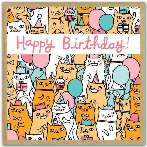 Birthday Cats: Small Gift Enclosure Cards