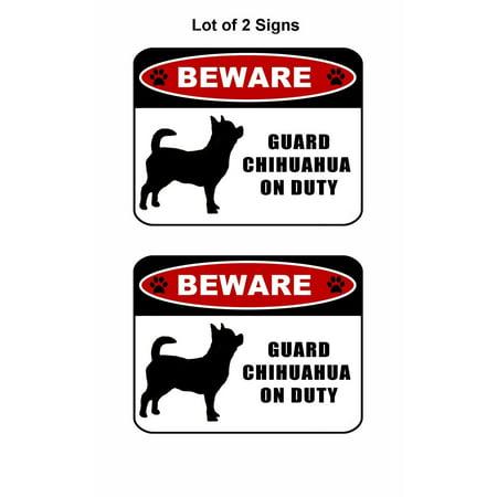 Beware Guard Chihuahua Silhouette