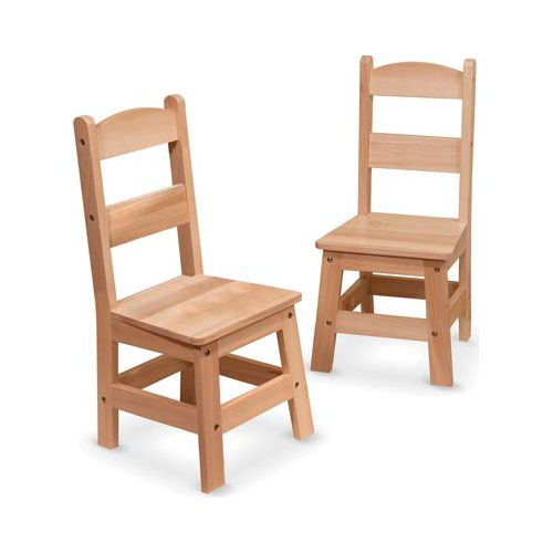 Melissa & Doug Kids Wooden Chair Pair, Multiple Colors