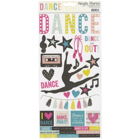 Simple Sets Dance Cardstock Stickers 6