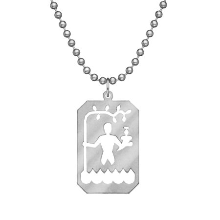 GI JEWELRY Saint Christopher for Men and Women with Stainless Steel Beaded Dog Tag Chain and Pendant - Genuine U.S. Military Issue