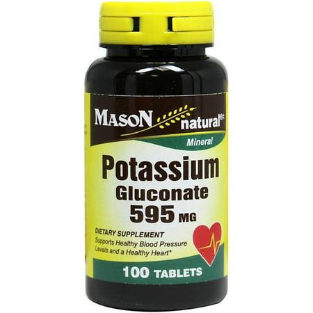 Potassium Gluconate 550 Mg Tablets - 2 Pack - Mason Natural Potassium Gluconate 595 mg Tablets 100 ea