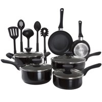 Classic Cuisine 15 Piece Cookware Set Nonstick, Tempered Glass Lids, Dishwasher and Induction Saf