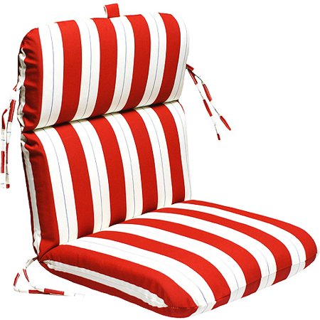 universal outdoor chair cushion red white and blue stripe walmart
