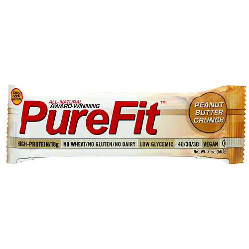 PureFit Peanut Butter Crunch Nutrition Bars, 2 oz (Pack of 15)