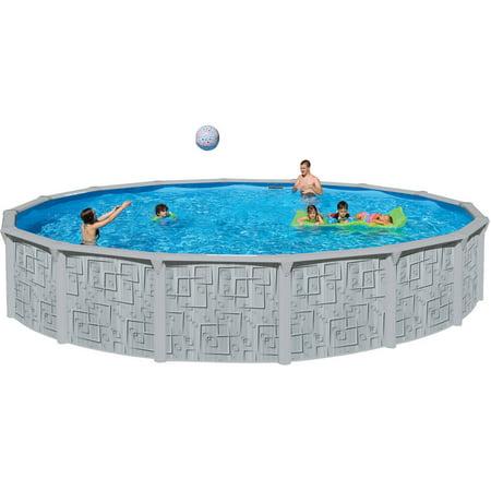 Heritage 24 39 x 52 illusion steel wall above ground swimming pool for Steel above ground swimming pools