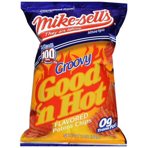 Mike-sell's Good 'N Hot Flavored Potato Chips, 2 oz