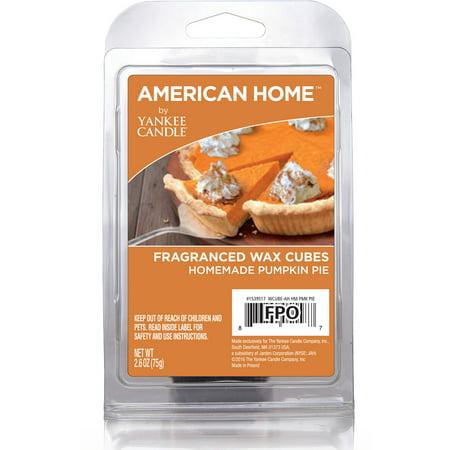 American Home by Yankee Candle Homemade Pumpkin Pie 2.6 oz Fragranced Wax Cubes