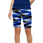 Loudmouth Golf Womens Fore Shades of Blue 10 Shorts