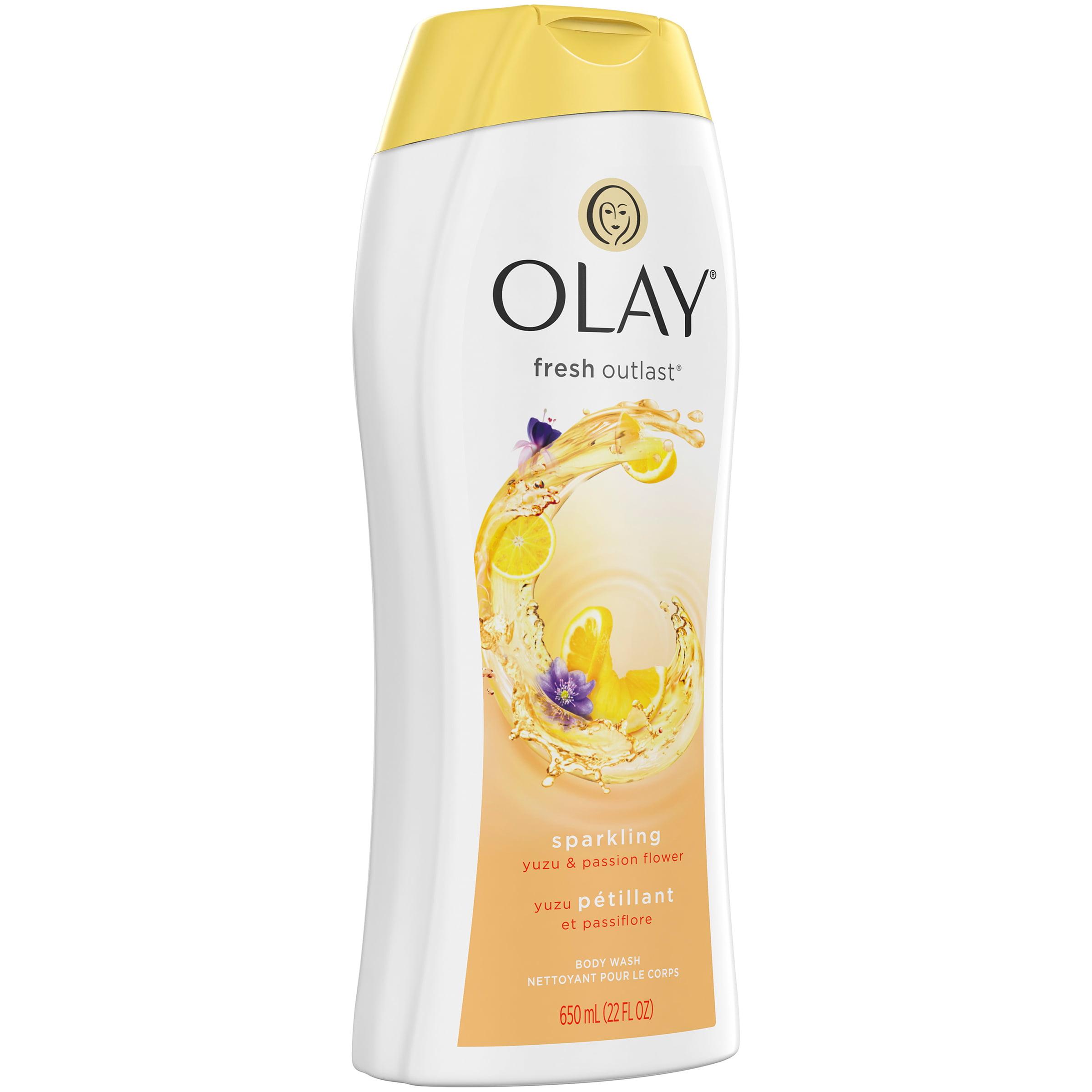 Olay Fresh Outlast Sparkling Yuzu and Passion Flower Body Wash, 22 oz