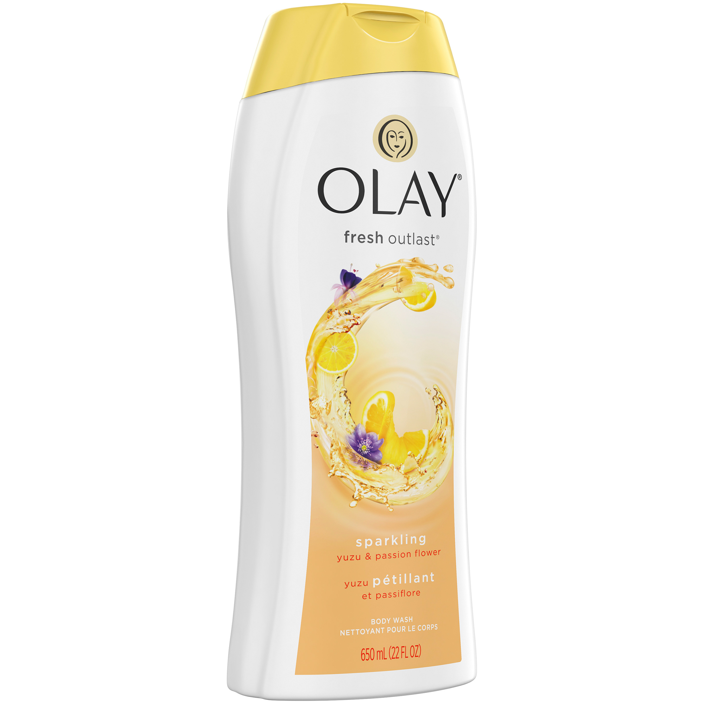 Olay Fresh Outlast Sparkling Yuzu and Passion Flower Body Wash, 22 oz