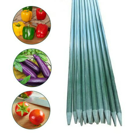 Garden Stakes, Tomato Stakes, 7-Feet, 20 Pack, 1/2-Inch Dia, Plant Stakes, Training Stakes Garden Poles Tree Stake Cucumber Stake Fence Stake Never Rust