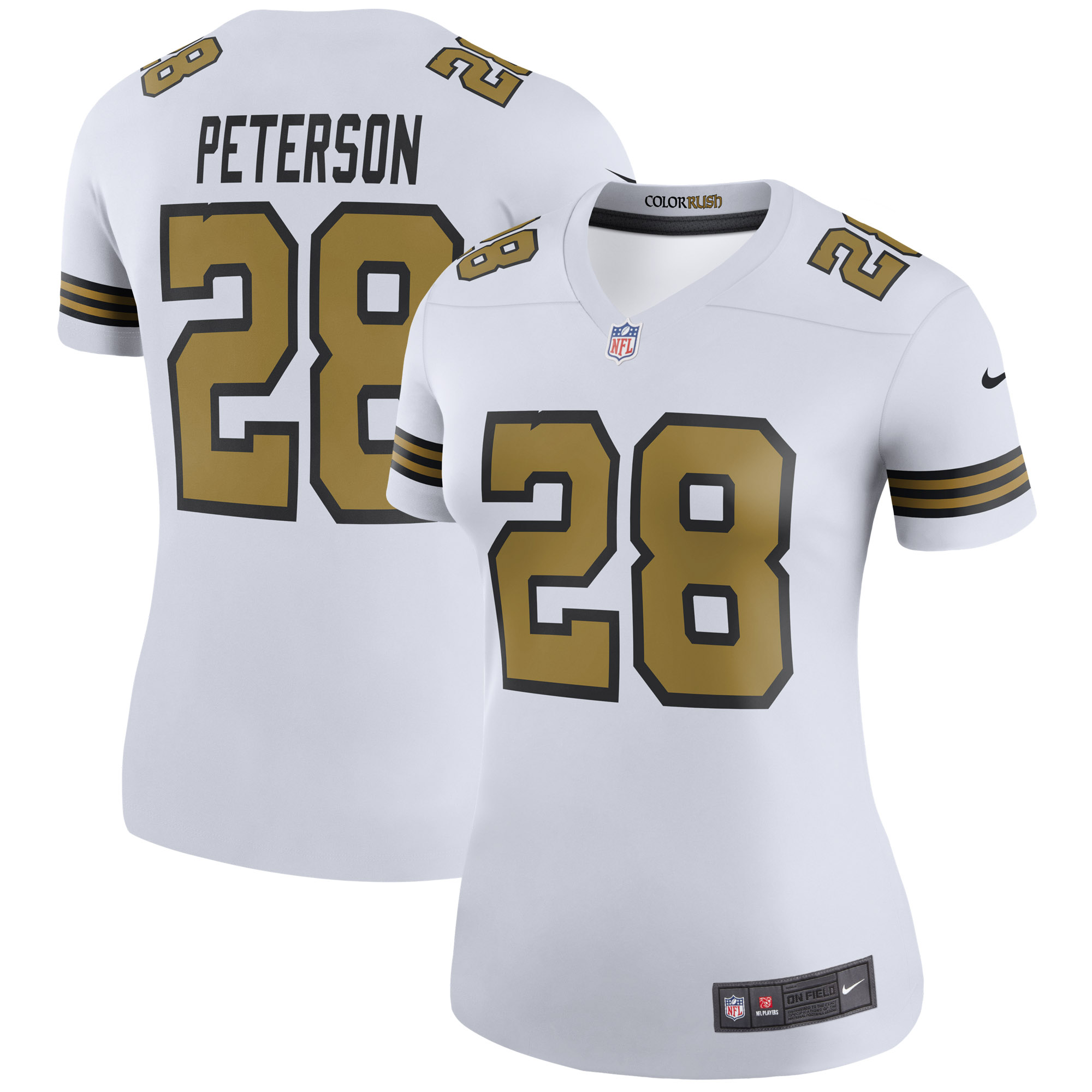 Adrian Peterson New Orleans Saints Nike Women's Color Rush Legend Jersey - White