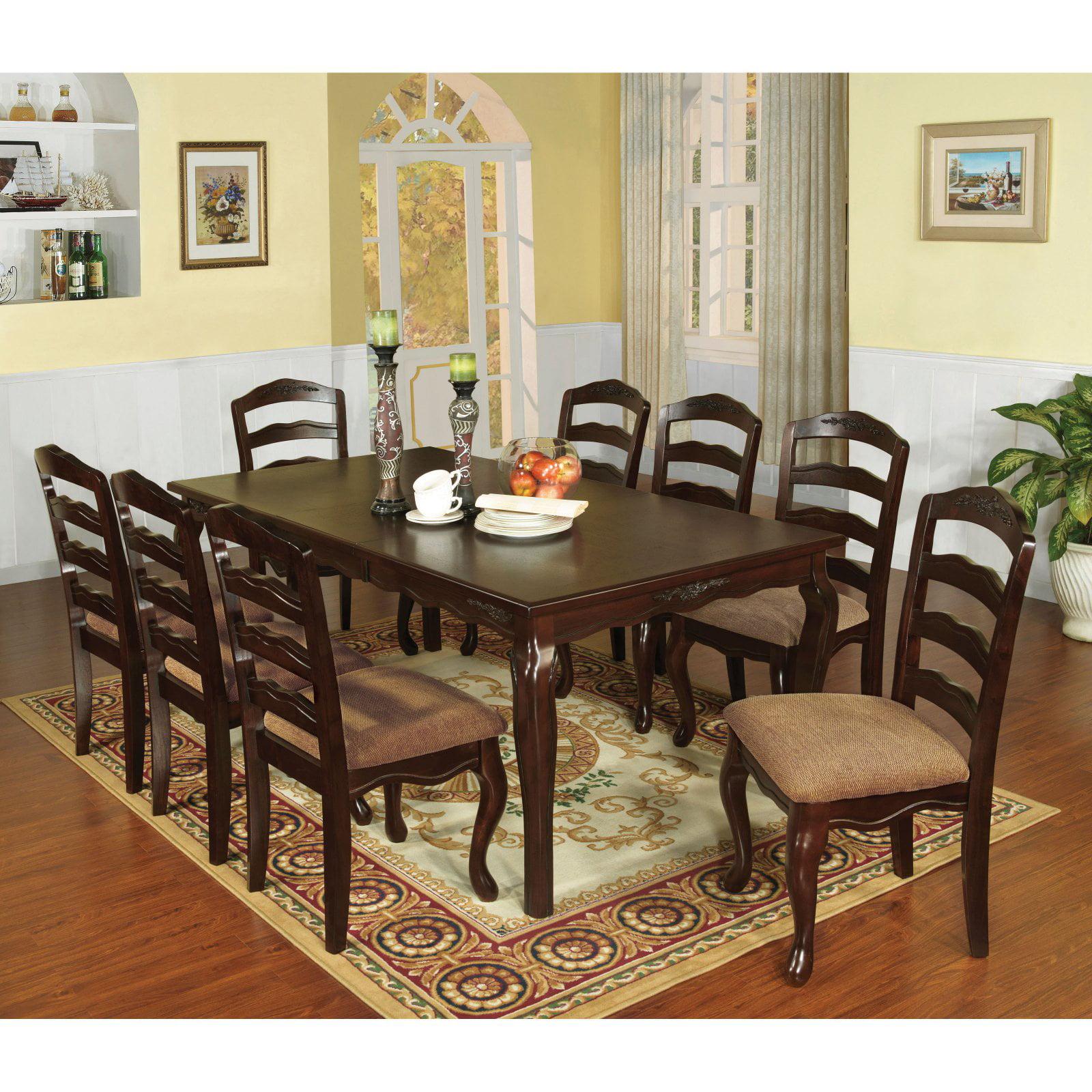 Furniture of America Hadriana 9 Piece Dining Set