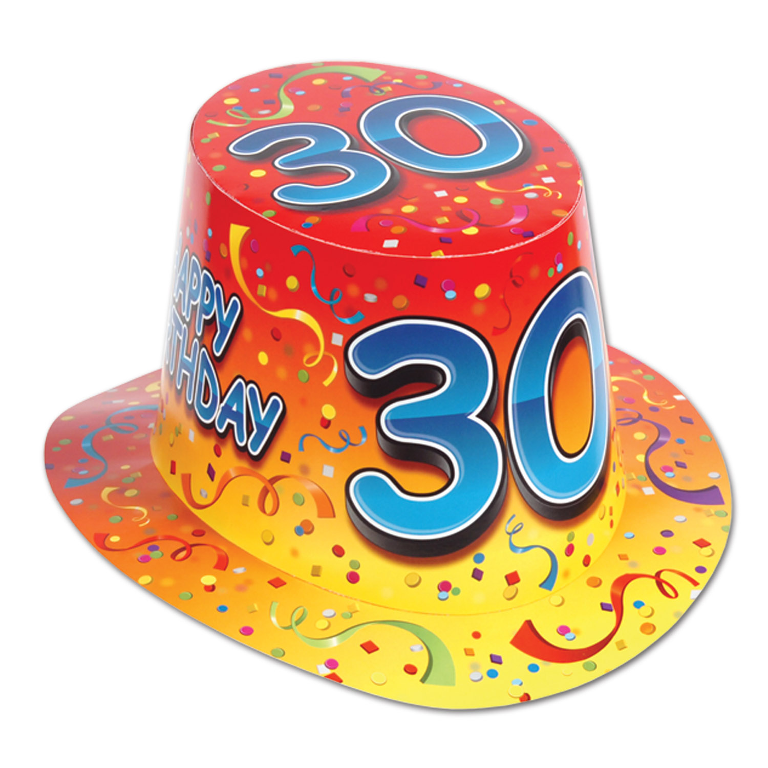 Happy 30 Birthday Hi Hat Pack Of 25