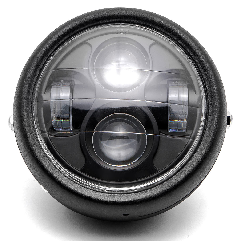 "Krator Black 6.5"" Headlight Projector HeadLamp Hi/Lo Beam for Honda Gold Wing Goldwing GL 500 650 1000 1100 - image 2 of 7"