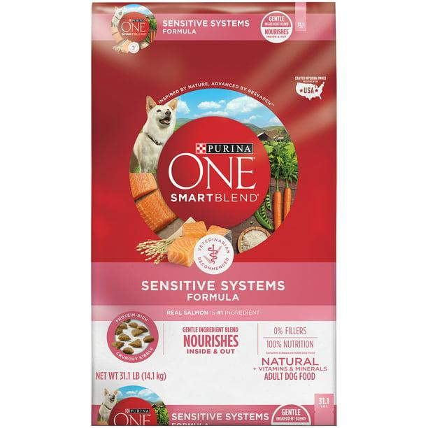 Purina ONE Natural, Sensitive Stomach Dry Dog Food, SmartBlend Sensitive Systems Formula, 31.1 lb. Bag