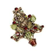 Sweet Romance  Kitten In The Christmas Tree Vintage Pin