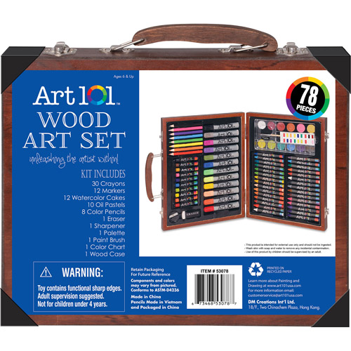 Art 101 78-Piece Wood Art Set