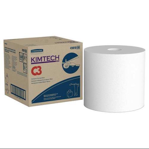 KIMTECH 49810 Aerospace Cleaning Wipes, Box, White