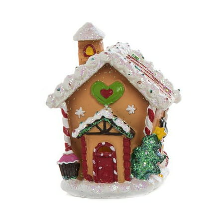 The Holiday Aisle Walter Resin Light up Gingerbread House - Gingerbread Decor