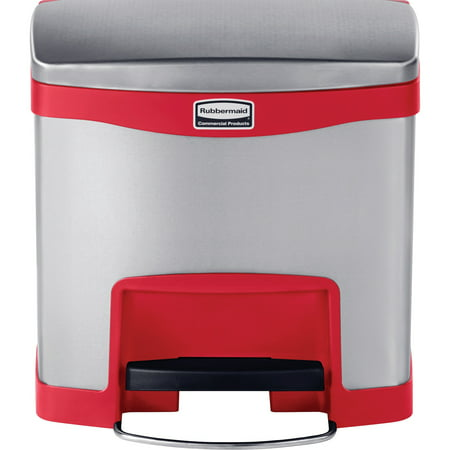 Rubbermaid Commercial, RCP1901983, 15L Slim Jim Step-on Container, 1, Red ()