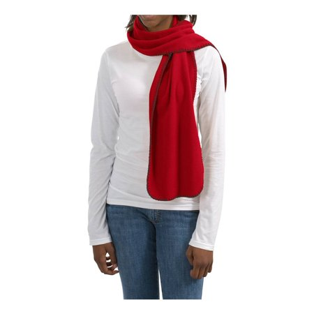 Port & Company Fleece Scarf With StitchIng (FS01) Red (Seirus Fleece Scarve)