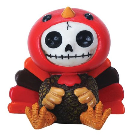 Furrybones Pumpkin Skeleton in Thanksgiving Turkey Costume Figurine](Skeleton Pumpkin)