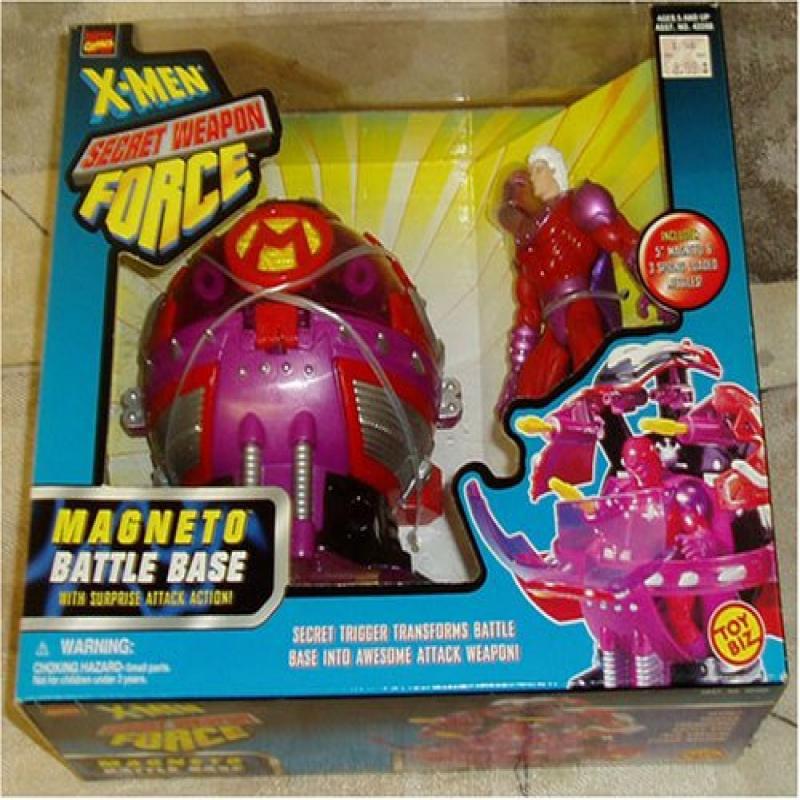 X-Men Secret Weapon Force Magneto Battle Base with Surprise Attack Action! by