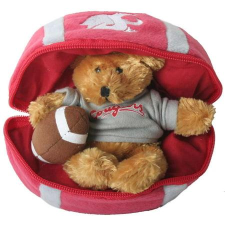 Washington State Cougars Stuffed Bear In A Ball