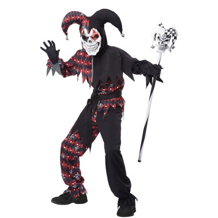 Sinister Jester Boys' Child Halloween Costume - Evil Jester Halloween Makeup