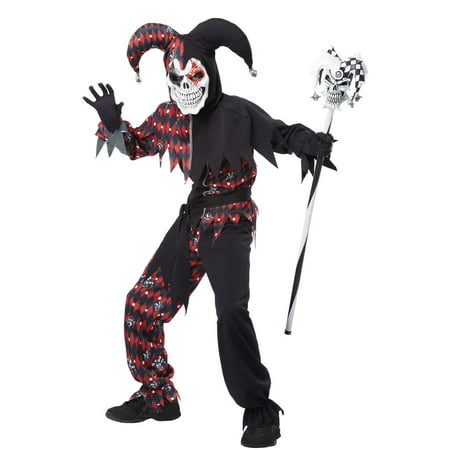 Sinister Jester Boys' Child Halloween - Tudor Jester Costume