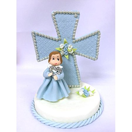 Blue Angel Baby Cake Top Table Centerpiece Christening or