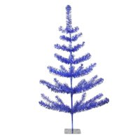 3' Blue Tinsel Pine Artificial Christmas Twig Tree - Unlit