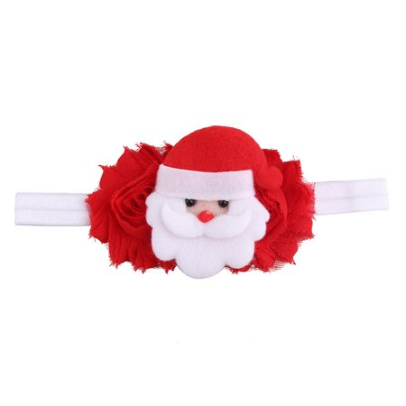 Huppin's Hot Sale Christmas Decoration Headwear Girls Infant Cute Cartoon Santa Claus Hair Band Headband Headdress Accessories Novelty Gadget - Christmas Head Wear