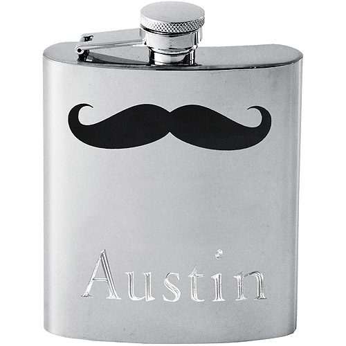 Personalized Stainless Steel Mustache Flask