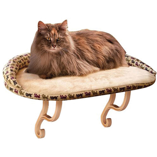 K&H Deluxe Kitty Window Mount Cat Bed with Bolster