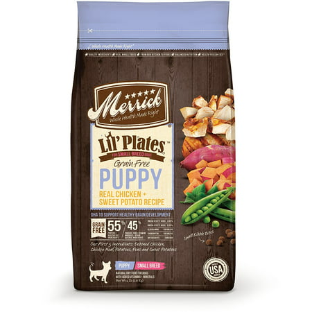 Merrick Lil'Plates Grain-Free Real Chicken & Sweet Potato Puppy Dry Dog Food, 12