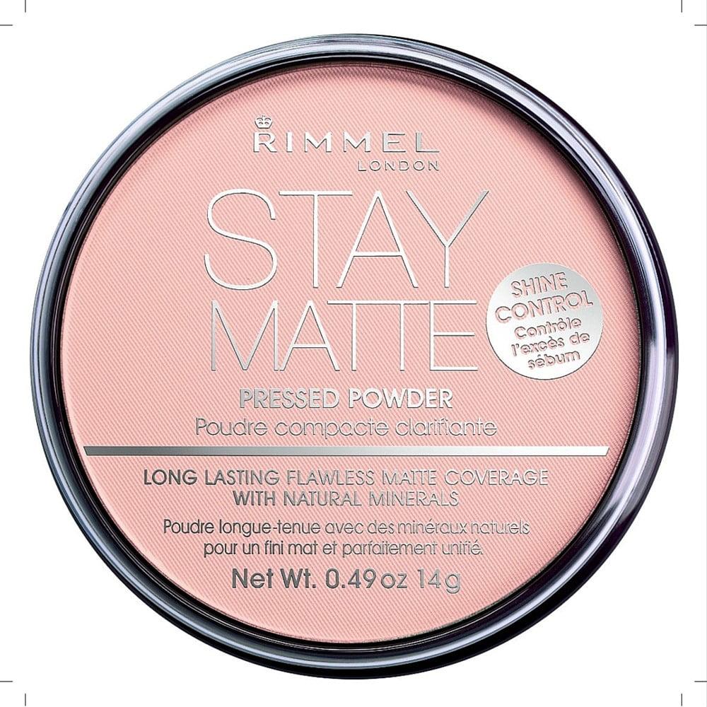 Rimmel London Stay Matte Pressed Powder, Natural 0.49 oz (Pack of 2)