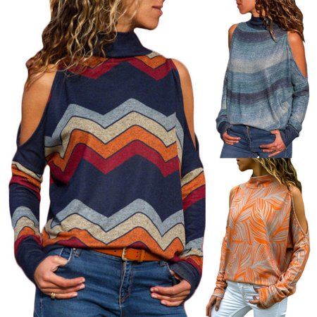 1920 Women's Fashion (Fashion Sexy Women's Cold Shoulder Casual Loose Long Sleeve T-Shirts Tops Blouse)
