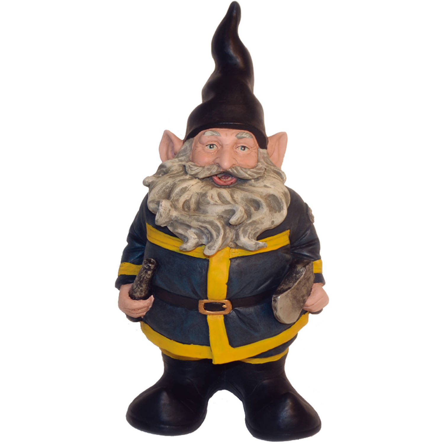 """Nowaday Gnomes """"Fireman the Gnome"""" Garden Gnome Firefighter Holding a Fire Hose... by GSIHomeStyles"""