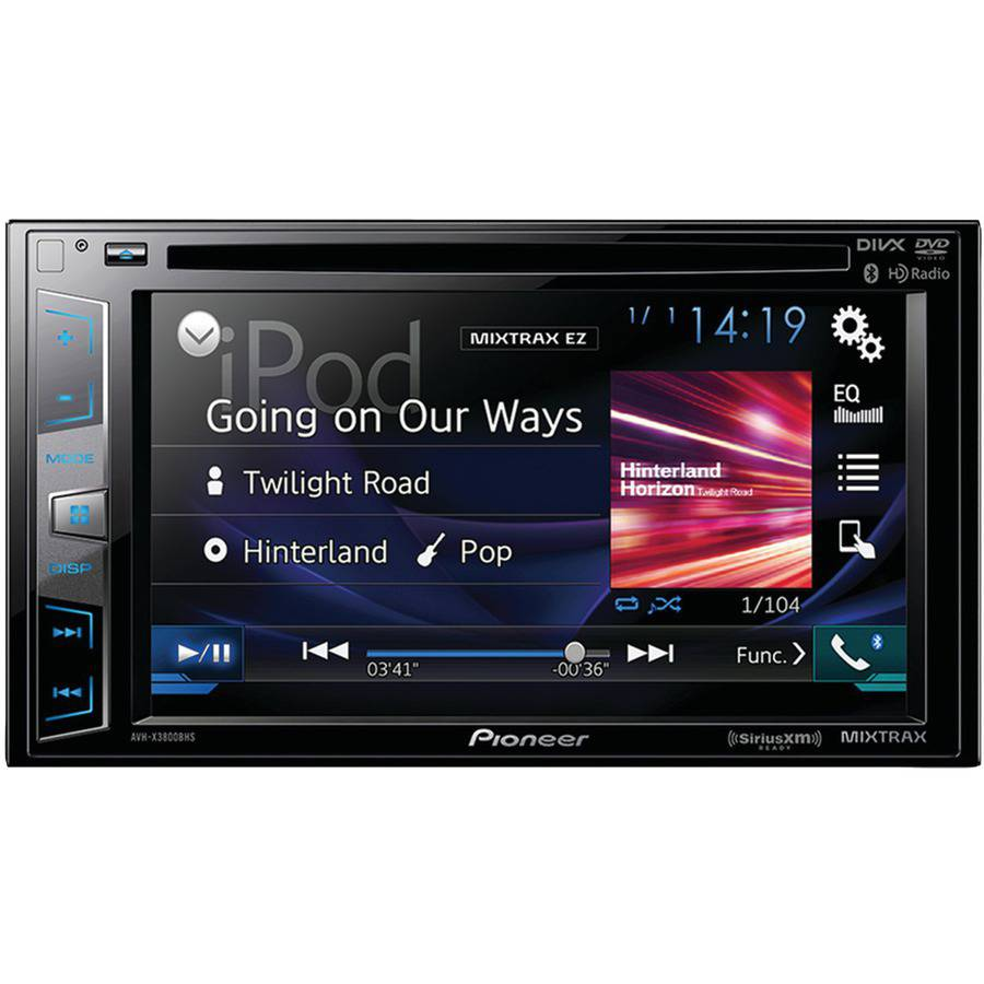 "Pioneer Avh-x3800bhs 6.2"" Double-DIN In-Dash DVD Receiver with Bluetooth, Siri Eyes Free, SiriusXM Ready, Hd Radio, Spotify, AppRadio One and Dual Camera Inputs"
