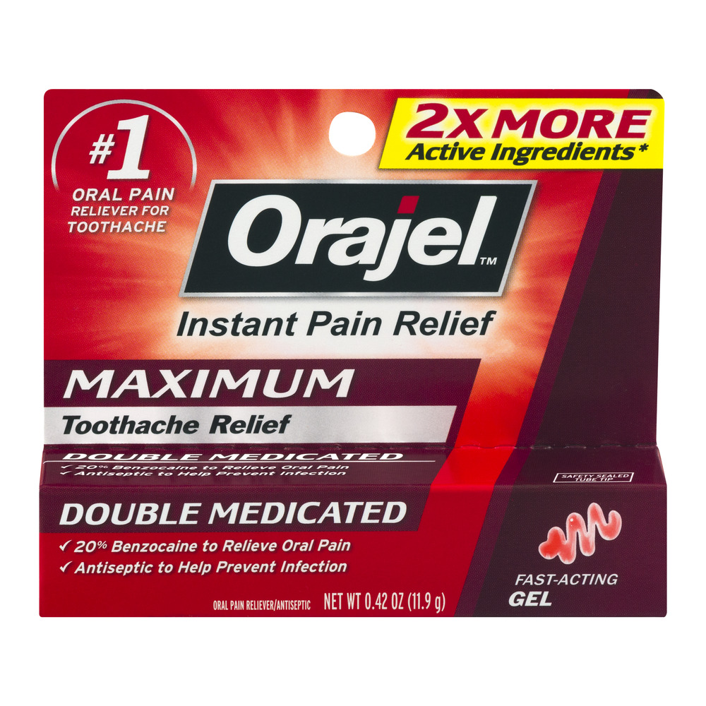 Orajel Instant Pain Relief Maximum Toothache Relief Double Medicated, 0.42 OZ