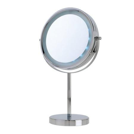 Danielle Vanity 5x Mirror, - American Fluorescent Chrome Vanity