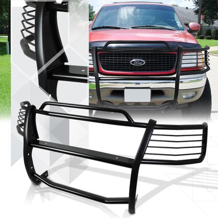 Black Mild Steel Grille/Brush/Headlight Guard for 99-04 Expedition/F150/F250 2WD 00 01 02