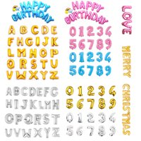 """16"""" 40"""" Large Foil Balloon Letters Numbers Gold Sliver Pink Blue Inflated Float Helium Balloons Birthday Wedding Party Banner Decoration Kids Fun Toys"""