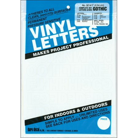Duro Decal Permanent Adhesive Vinyl Letters & Numbers: 1