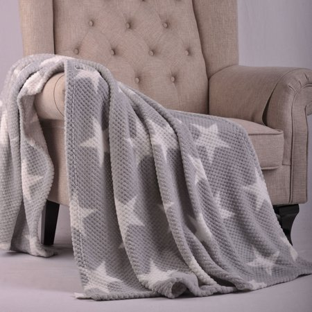 boon throw & blanket star flannel travel - All Star Throw Blanket