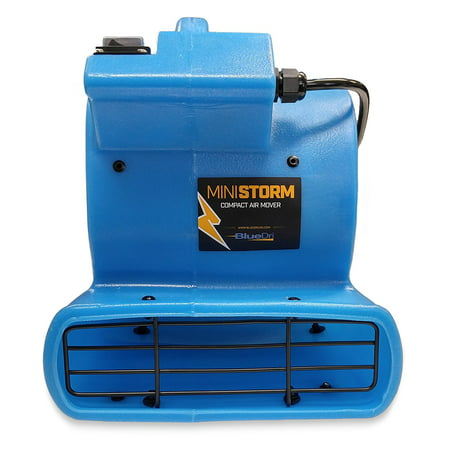 Soleaire Mini Storm 1/12 HP Mini Air Mover Carpet Dryer Floor Blower Fan for Home Use, Blue (Carpet Dryer)