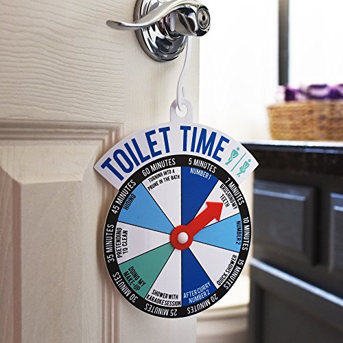 """Bathroom Sign At Walmart bathroom door """"toilet time"""" spinner sign - let the world know how"""